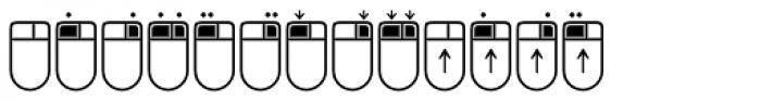 Keys Mouse Font LOWERCASE