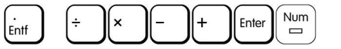 Keys PC Deutsch Alt Font UPPERCASE