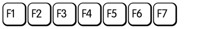 Keys PC Deutsch Alt Font LOWERCASE