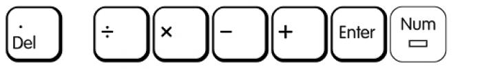 Keys PC English Alt Font UPPERCASE