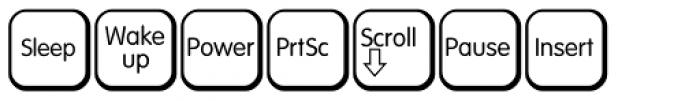 Keys PC English Alt Font LOWERCASE