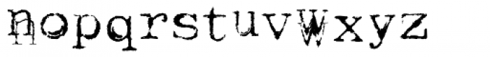 Keystoned Font LOWERCASE