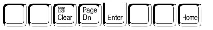 Keystrokes Std Shadow Extra Font LOWERCASE
