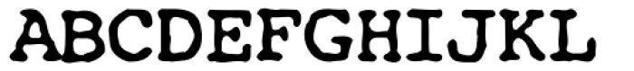 Kfont Z111 Font UPPERCASE