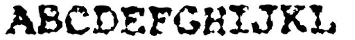 Kfont Z555 Font UPPERCASE