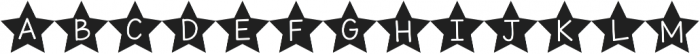 KG All of the Stars ttf (400) Font UPPERCASE
