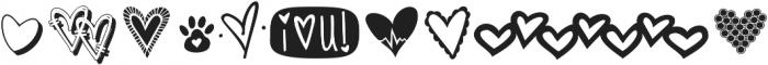 KG Heart Doodles ttf (400) Font OTHER CHARS