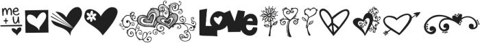 KG Heart Doodles ttf (400) Font UPPERCASE