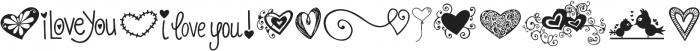 KG Heart Doodles ttf (400) Font LOWERCASE