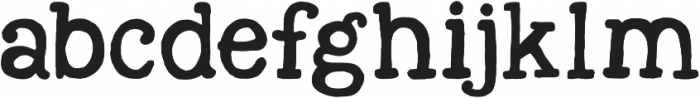 KG Next to Me Solid ttf (400) Font LOWERCASE