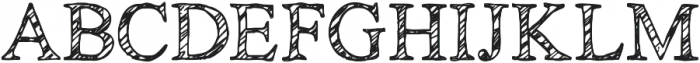 KG No Regrets Sketch ttf (400) Font UPPERCASE