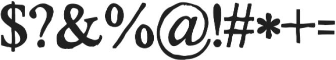 KG No Regrets Solid ttf (400) Font OTHER CHARS