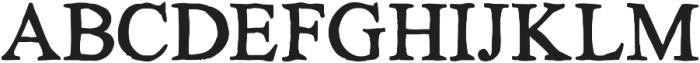 KG No Regrets Solid ttf (400) Font UPPERCASE