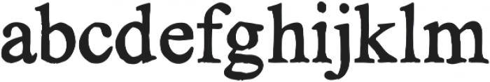 KG No Regrets Solid ttf (400) Font LOWERCASE