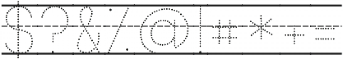 KG Primary Dots Lined NOSPACE ttf (400) Font OTHER CHARS