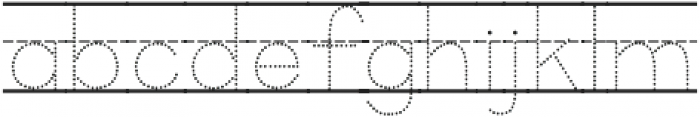 KG Primary Dots Lined NOSPACE ttf (400) Font LOWERCASE