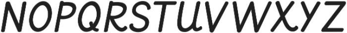 KG Primary Italics ttf (400) Font UPPERCASE