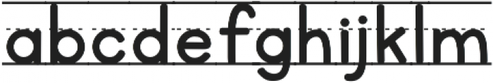 KG Primary Lined NOSPACE ttf (400) Font LOWERCASE