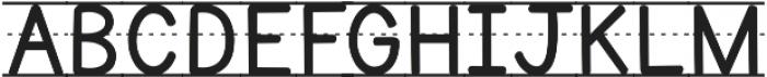 KG Primary Penmanship Lined ttf (400) Font UPPERCASE