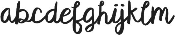 KG Satisfied Script ttf (400) Font LOWERCASE