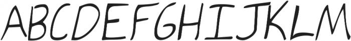 KG Ten Thousand Reasons ttf (400) Font UPPERCASE