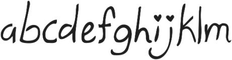 KG Ten Thousand Reasons ttf (400) Font LOWERCASE