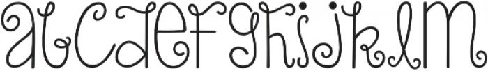 KG Turning Tables ttf (400) Font LOWERCASE