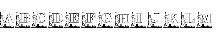 KG 911 Font UPPERCASE