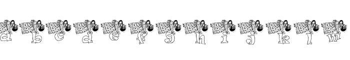 KG ANGEL1 Font LOWERCASE