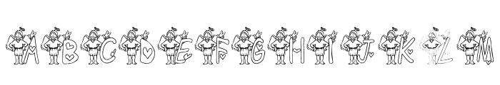 KG ANGEL3 Font UPPERCASE