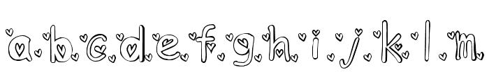KG ANGEL3 Font LOWERCASE