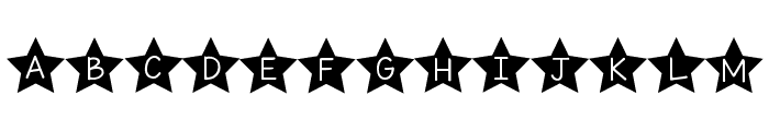 KG All of the Stars Font UPPERCASE