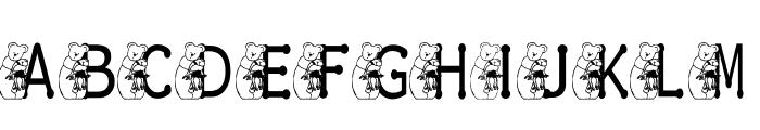 KG BEAR&FROG Font UPPERCASE