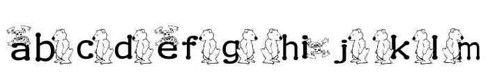 KG BEAR&FROG Font LOWERCASE