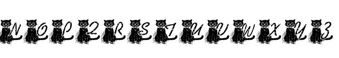 KG BLACKAT Font UPPERCASE