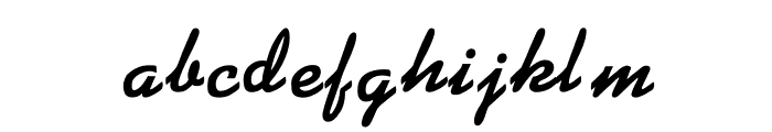 KG BLACKAT Font LOWERCASE