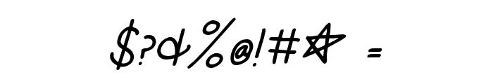 KG Burst My Bubble Italic Font OTHER CHARS
