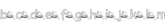 KG CHICKEN SOUP Font LOWERCASE
