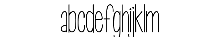KG Call Me Maybe -skinny Font LOWERCASE