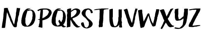 KG Camden Market Script Font UPPERCASE
