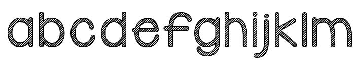 KG Candy Cane Stripe Font LOWERCASE