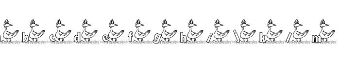 KG DUCKS2 Font LOWERCASE