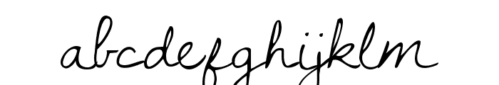 KG Dawning of a New Day Font LOWERCASE