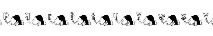 KG ELEBABY Font LOWERCASE