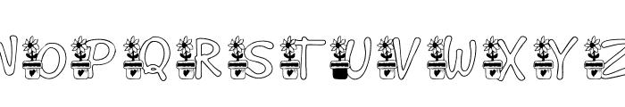 KG FLOWER Font UPPERCASE