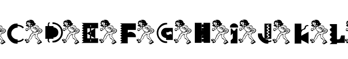 KG FUNKYGIRL Font LOWERCASE