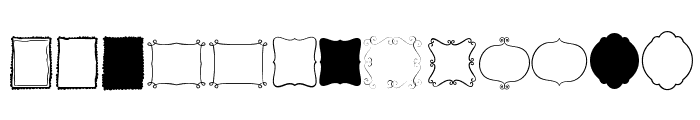 KG Flavor And Frames Two Font LOWERCASE