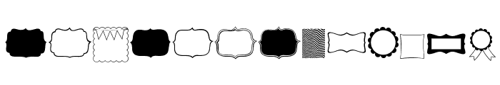 KG Flavor and Frames Font UPPERCASE