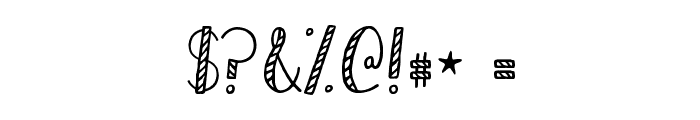 KG Hard Candy Striped Font OTHER CHARS