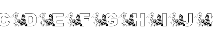 KG Hippity Hop Font UPPERCASE